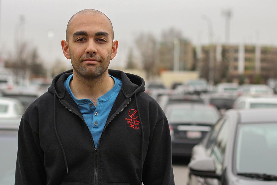 App for That: John Gozde, developer of the ParkBot app. (Photo by Kyle Ceelen/The Press)