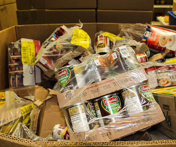 Food For Thought: One of the many boxes filled with food at the Veterans food bank, run by the Calgary Poppy Fund, in Calgary on Thursday, Oct. 31, 2013. (Photo by Shealin Boswell/THE PRESS)
