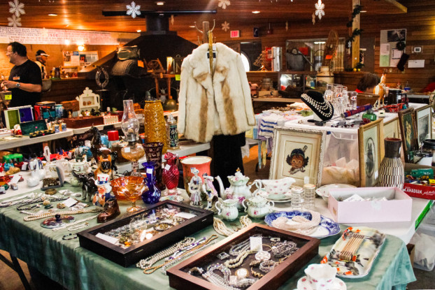 On Display: The Antique and Collectibles Market at the Hillhurst-Sunnyside Community Association. (Photo by Nabila Ruhi/The Press)