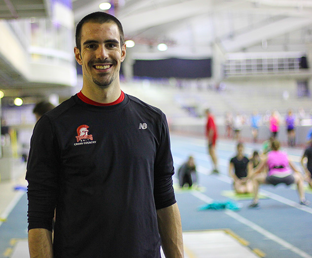 Ryan Edgar, assistant coach and main coach on the 400m/800m events. (Photo by Dmitry Kuleshov/The Press)