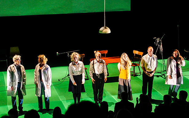 The Seeds cast takes a bow at the end of the Jan 16th performance.