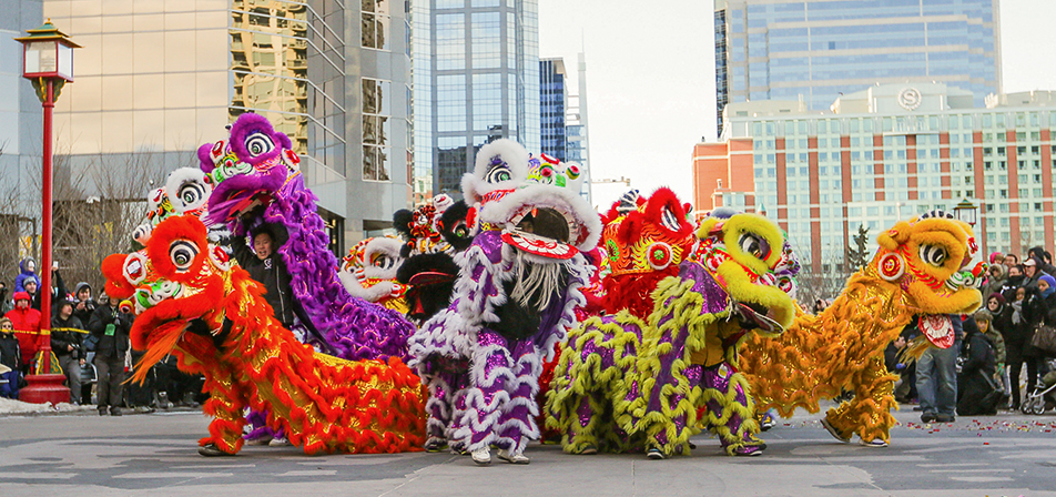 Colourful Dance: The Jing Wo Cultural Association and the Canadian Honan Shaolin Wushu Association perform the traditional Chinese lion dance. (Photo by Courtney Blatch/The Press)