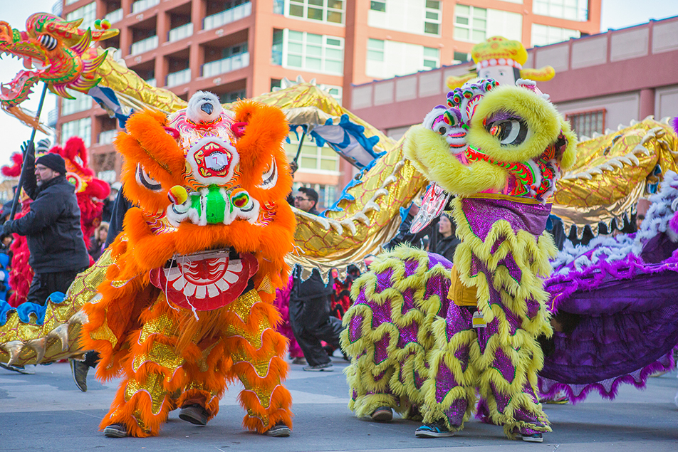 Colourful Dance: Students from the Jing Won Martial Arts School perform during the Year of the Horse Chinese New Year celebrations. (Photo by Evan Buhler/The Press)