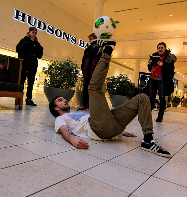 Kristen Abel: one of the survey participant, owner of the school of freestyle soccer, on Feb. 5, in Chinook Mall. (Photo by Dmitry Kuleshov/The Press)