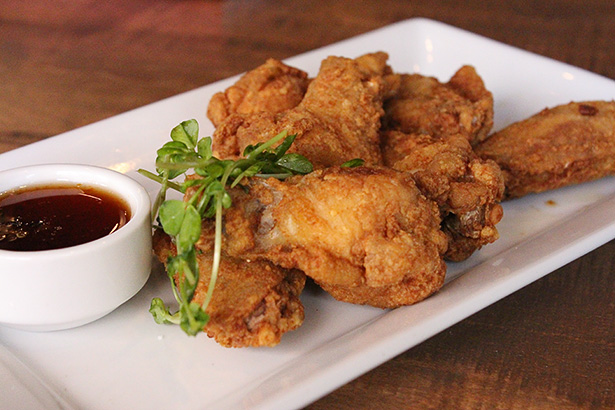 Appetizers: The truffle dusted chicken wings are served as an appetizer at Swine and Sow in Calgary. (Photo by Nicole Braun/The Press)