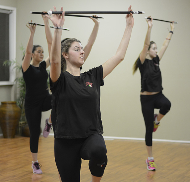 Lexi Mosca, a dancer and assistant instructor, practices for the upcoming gala that will raise funds for the upcoming trip to Thunder Bay, Ont. (Photo by Sabrina Scarpino/The Press)