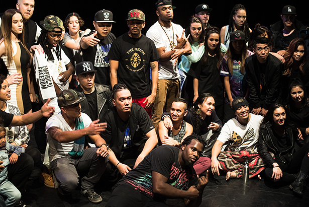 U for Unity: Participants and crew strike a pose for the camera after performing for Fifty Hype!, Calgary's first ever krump event. Oliver Reyes, co-founder of Mpact Movement, and its division, Empirical Freedom, hosted the event. (Photo by Nikki Celis/The Press)