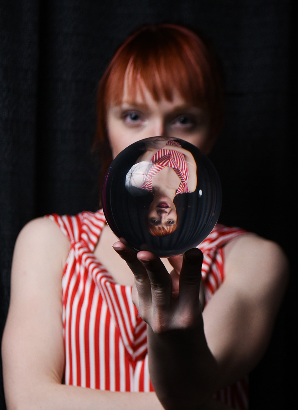 Performance Artist: Lindsay Istace, a performance artist who specializes in the circus arts, poses for a portrait at the TABOO Expo in Edmonton on Saturday, Nov. 21, 2015. Istace can juggle fire with ease or spin a glass ball seamlessly over her shoulders. (Photo by Elizabeth Cameron/The Press)