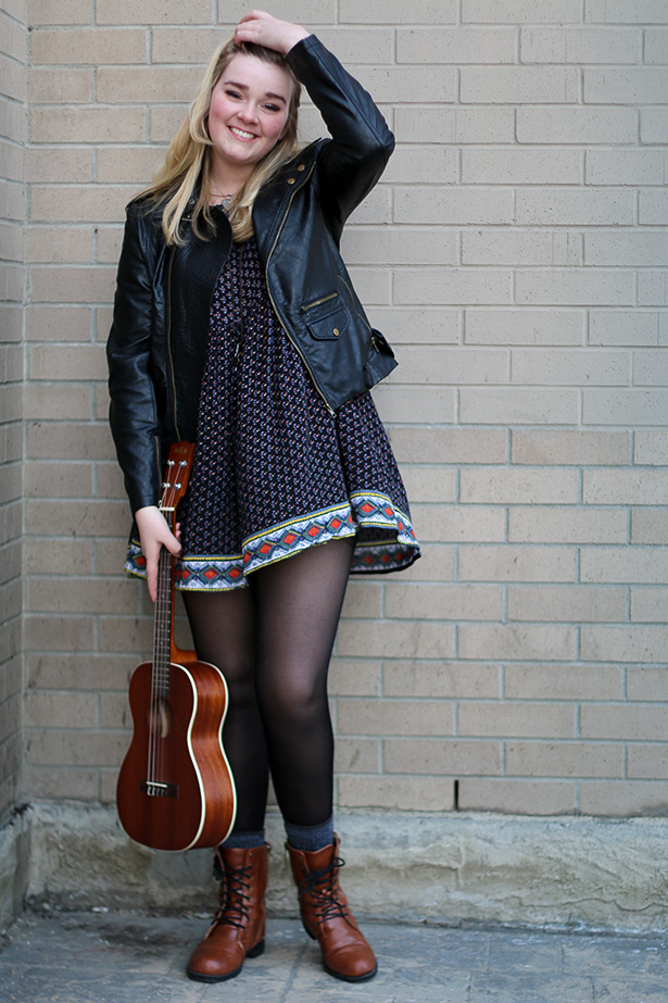 Rockstar Quality: Kate Stevens loves to connect with her audience on a personal level with her ukelele and songwriting skills. (Photo by Jenna Kardal/The Press)