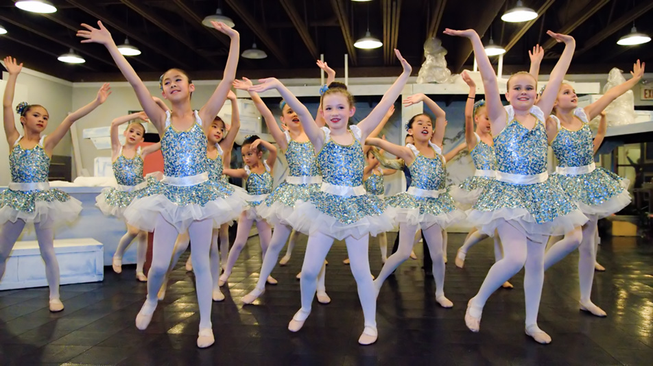 Budding Ballerinas: Mystical Trolls practice their routine during a dress rehearsal at Absolute Dance in the Dalhousie area in Calgary on Friday, Nov. 27, 2015. (Photo by Brooke Hovey/The Press)