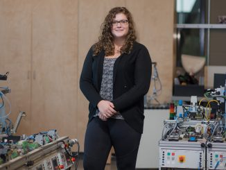 strong>In the lab: Laine Van Hardeveld, is posing for a portrait, in SAIT's Automation lab, in Calgary on Thursday, Oct. 11, 2018. Van Hardeveld is a second year student of SAIT's School of Mechatronics. Her project was select to represent SAIT as a part of Skill Competences Canada. The winner of Skill Competences Canada gets to compete on an international level in Kazan, Russia. (Photo by Katherine Puhl/The Press)